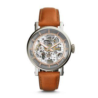 Fossil Original Boyfriend Automatic Light Brown Leather Watch ME3109