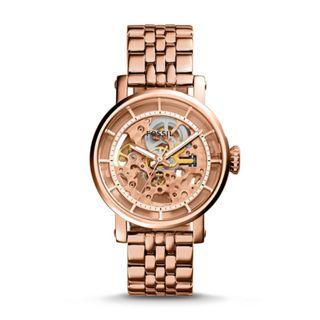 Fossil Original Boyfriend Automatic Rose Tone Stainless Steel Watch ME3065