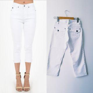 Topshop White Capris pants (NOT SEE through)