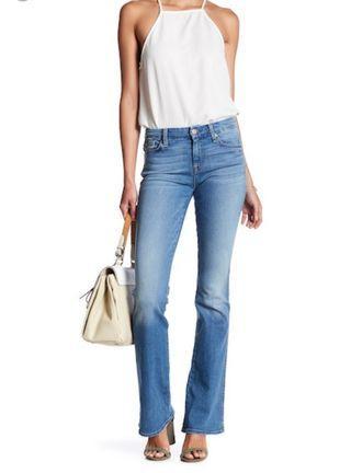 7 for all Mankind Straight Leg Jean Denim
