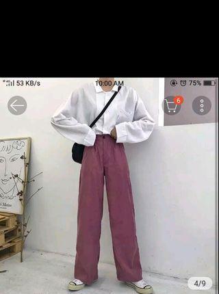 Baggy pants high waist