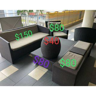 2seater Sofa outdoor Patio Furniture from @$40 to $80 Each