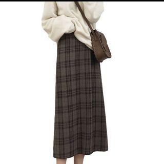 🚚 格子半身長裙