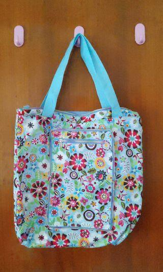 Foldable Floral Nylon Bag