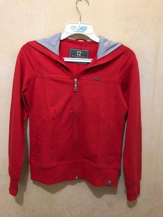 #luckyoetama jaket hoddie wanita warna merah