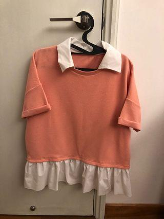Smart casual oversized top