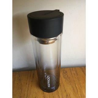 【專賣二手物】Lock&Lock樂扣樂扣 繽紛漸層耐熱雙層玻璃水壺350ML(黑色,LLG653BLK-OCH)