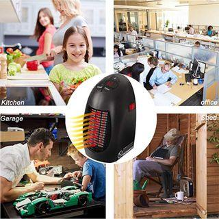 Around The Home Handy Heater LED Mini Heater 400W | Fast Indoor Plug in Heaters for Bedroom, Home, Travel, Garage and Office