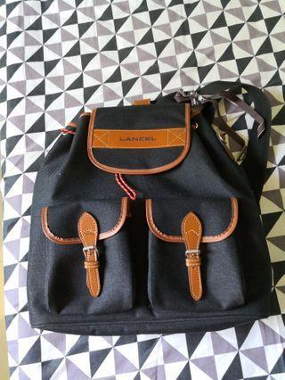 Lancel canvass backpack