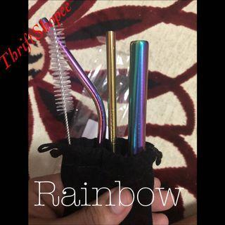 ⚠️HIGH DEMAND⚠️ Metallic Stainless Steel Straw