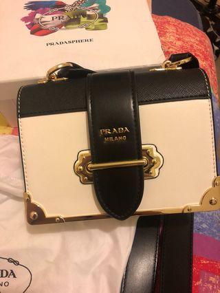 Prada Cahier white bag