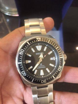 Seiko Dive Samurai Grey Black complete authentic