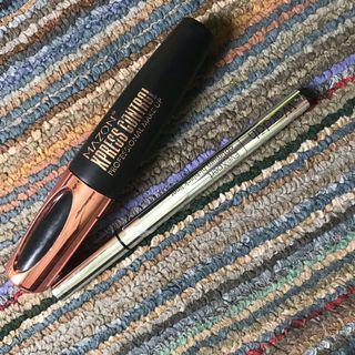 eyeliner wardah dan mazon mascara 4D