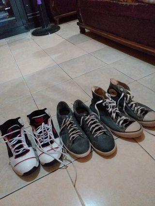 Sepatu Converse, nike, lonsdale