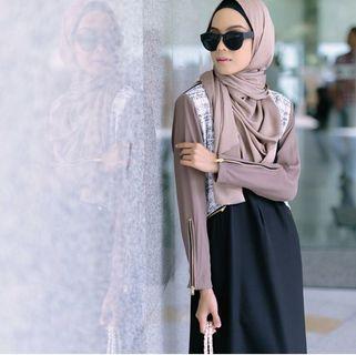 Fahana tweed leather jubahsouq