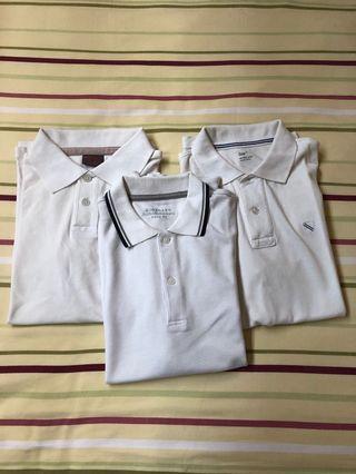 Polo Shirt putih utk cowo 3 pcs pack