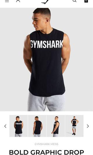 Gymshark bold grapic drop armhole tank