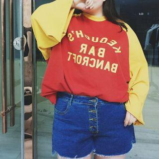 (SALES) Plus Size 4X Korean Denim Blue Ulzzang Distressed High-waist Basic Shorts