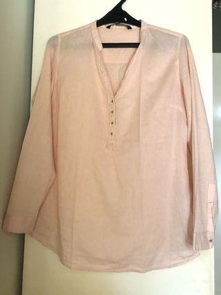 Zara Peach Shirt