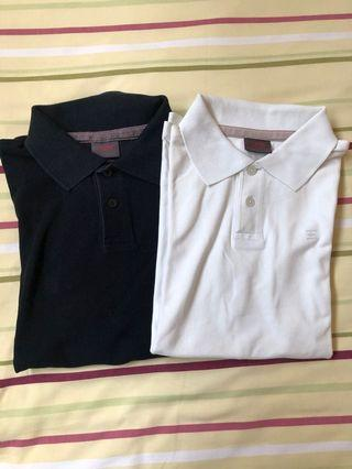 Polo Shirt 2in1 black and white