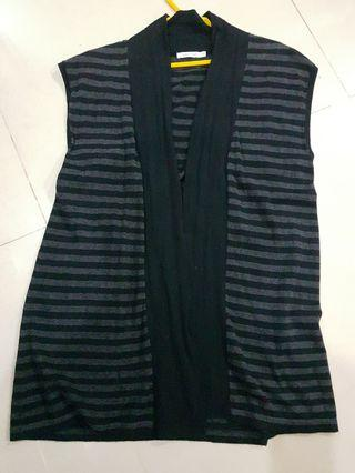 Free postage: Bossini knitted striped vest jacket