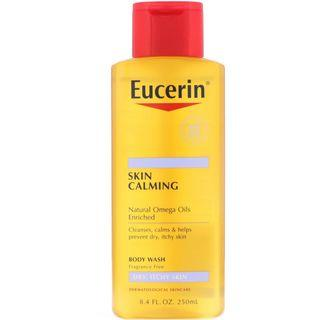 Eucerin, Skin Calming Body Wash, For Dry, Itchy Skin, Fragrance Free, 250 ml
