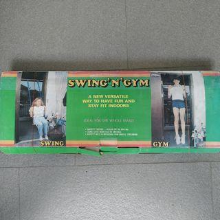 Swing and Gym equipment. pull up bar