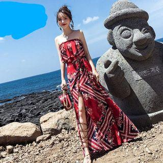 🚚 海攤美式風格套裝開叉長洋裝