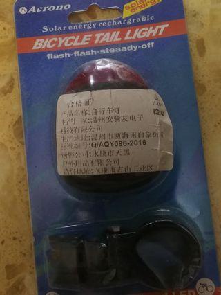 單車尾燈 太陽能充電燈 全新 包郵