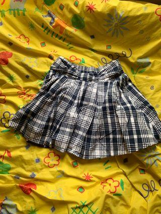 Japanese grey and white checked skirt
