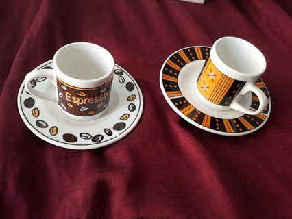 義式風情  咖啡杯 兩組便宜賣