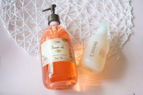 Sabon shower oil canvas
