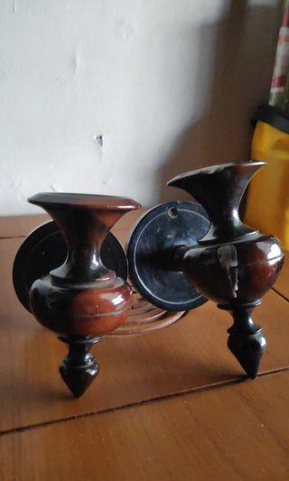 Tatakan Lampu Kayu Klasik