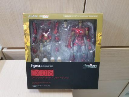 Figma豪華版Ironman Mark7 VII 鐵甲奇俠 復仇者聯盟 Full Spec ver. Action Figure Series Avengers Marvel VII EX-018