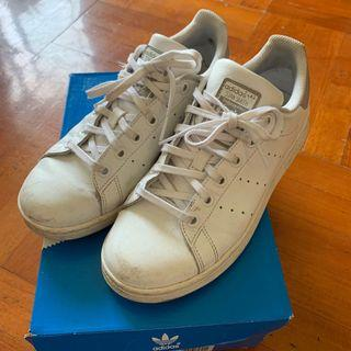 100%real Eur37.5 US5 UK4.5 23cm Adidas Stan Smith campus originals white wht nude grey 白色鞋 白鞋 小白鞋 番學 上班 PE PE堂 運動 堂 課 37 38