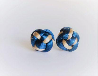 Chinese Button Knot Earrings