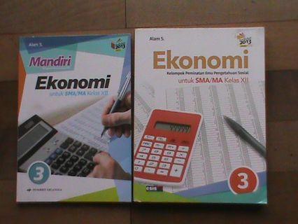 Buku Pelajaran Ekonomi SMA/MA Kelas XII Kurikulum 2013 Edisi Revisi, Harga per Buku Rp 15.000