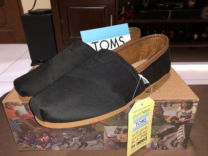 Sepatu Toms Original Classic Black Twill