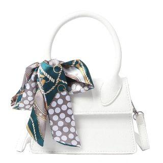 White Sling Bag With Scraf