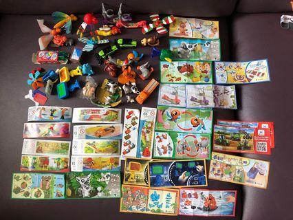 C 743–朱古力蛋玩具一堆(見相片)有蛋紙$60