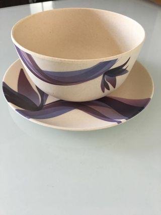 Set of plate & bowl - eco friendly