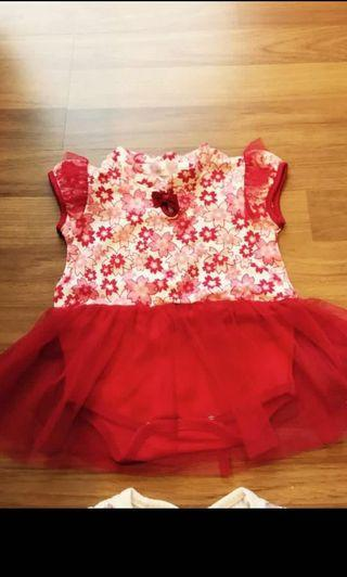 Baby Dress Red Cheongsam
