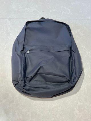 Plain Grey Unisex Backpack