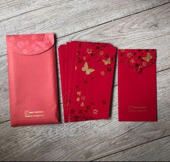 BNP Bank Red Packets Angbao (10pc)