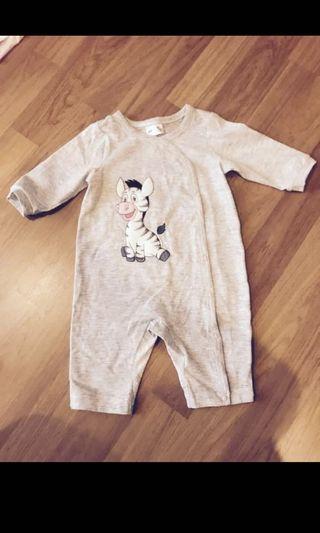 Baby Sleepsuit zebra