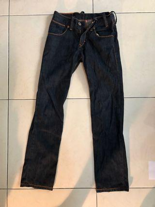 Levi's 牛仔褲 深藍色長褲 二手 修身褲子 合身