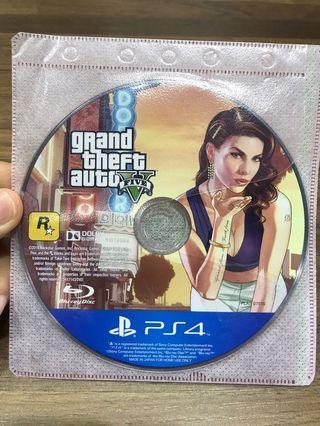 「花枝女」PS4 二手 俠盜獵車手 5 GTA5 Grand Theft Auto V