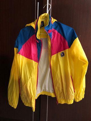 🚚 螢光黃 透氣運動外套 二手 亮色