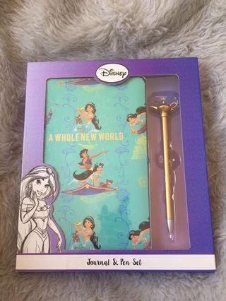 Disney Aladdin Jasmine Diary Journal Notebook Pen Gift Set ASOS