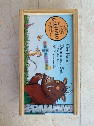 🚚 Gruffalo's Dominoes Set (100% wood) - 18 months and above